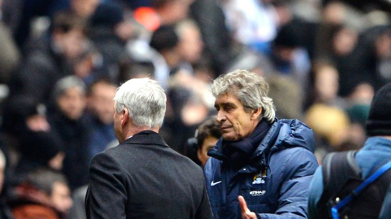 Manuel Pellegrini: With Pardew at the final whistle
