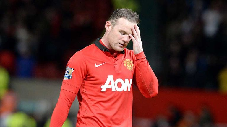 Wayne Rooney: Not happy with look of title race