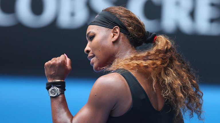 Serena Williams: Needed 63 minutes to power into the third round