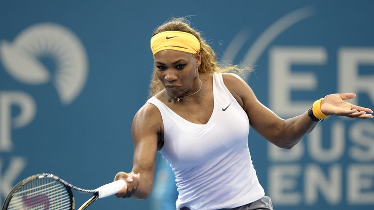 Serena Williams: Will play Maria Sharapova in the last four in Brisbane
