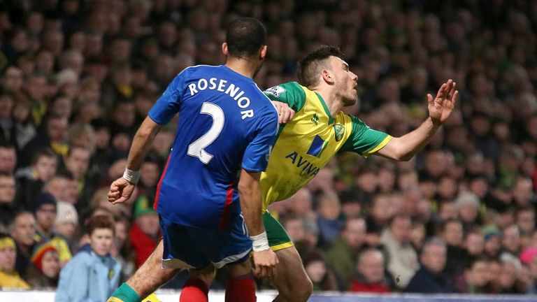 Robert Snodgrass: Giving his all to help Norwich stay up