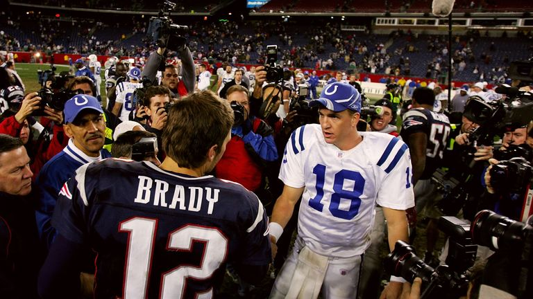 Tom Brady and Peyton Manning have faced each other 14 times in the NFL
