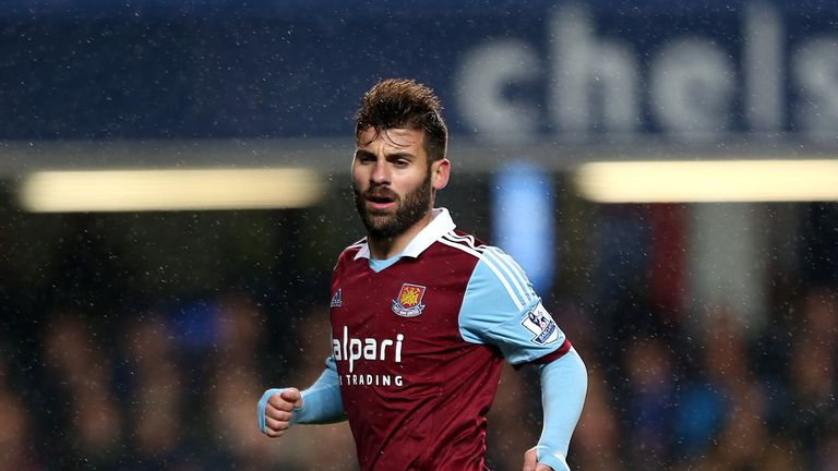 Antonio Nocerino: In action for West Ham last season