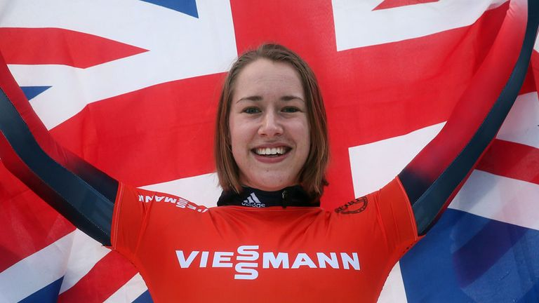 Lizzy Yarnold: Briton celebrates skeleton gold