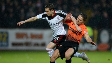 John Rankin (r): Midfielder has agreed new Dundee United deal
