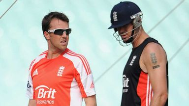 Graeme Swann and Kevin Pietersen: Former England duo in the nets