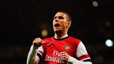 Lukas Podolski: Up for the battle in the Allianz Arena