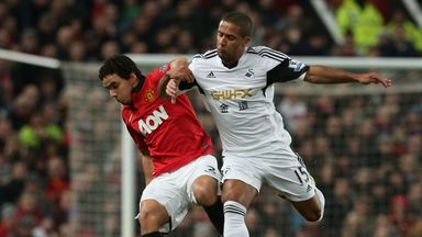 Rafael: In action against Swansea