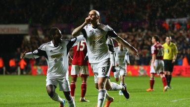 Shelvey: Opens the scoring against Fulham at the Liberty Stadium