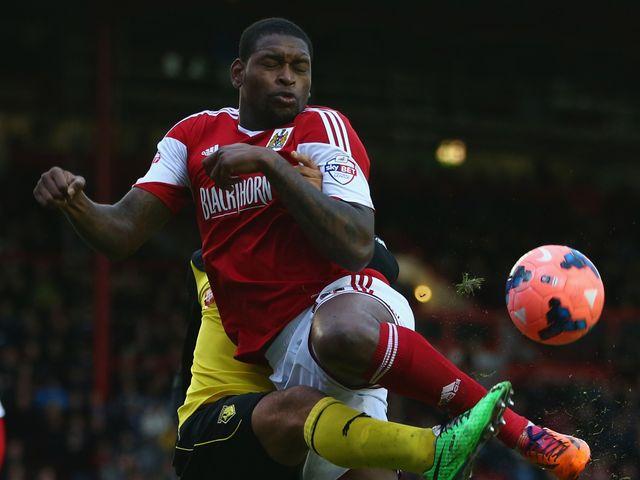 Jay Emmanuel Thomas of Bristol City in action