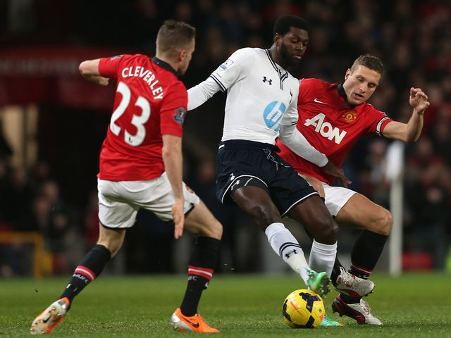 Emmanuel Adebayor is put under pressure