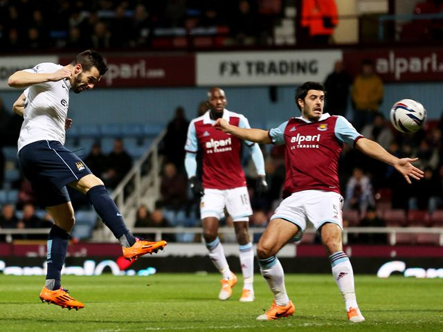Negredo heads home City's first goal of the night