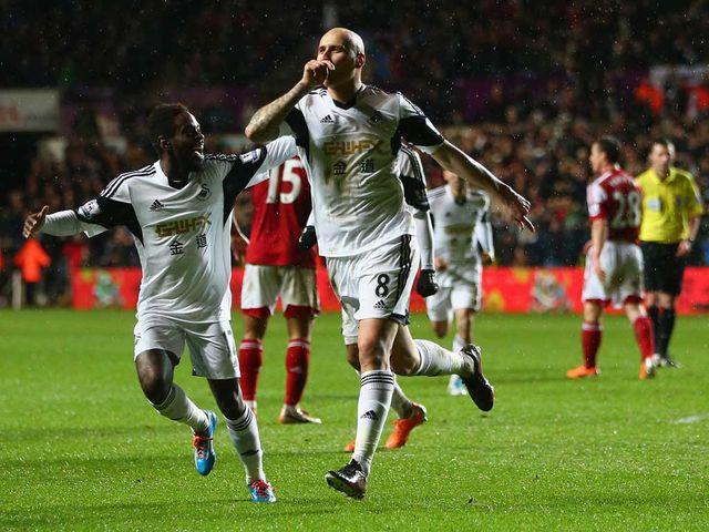 Jonjo Shelvey: Still missing from Swansea squad