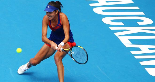Ana Ivanovic: Through to the last four at the New Zealand event