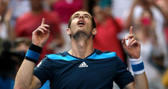Andy Murray: faces a potential banana skin in 'lucky loser' Stephane Robert