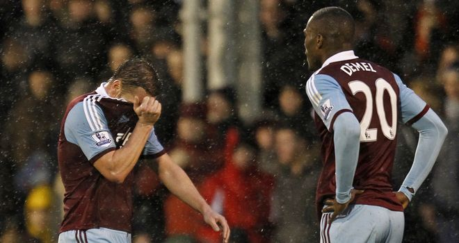 Kevin Nolan: Red carded at Craven Cottage