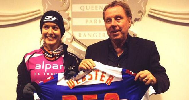 QPR's latest signing? Charlie meets manager Harry Redknapp