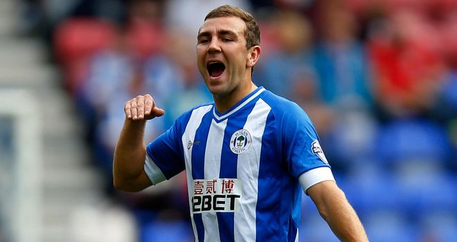 James McArthur: Grabbed Wigan's first of the afternoon
