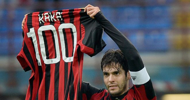 Kaka netted his 100th goal