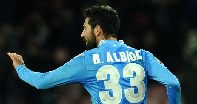 Raul Albiol celebrates his late equaliser