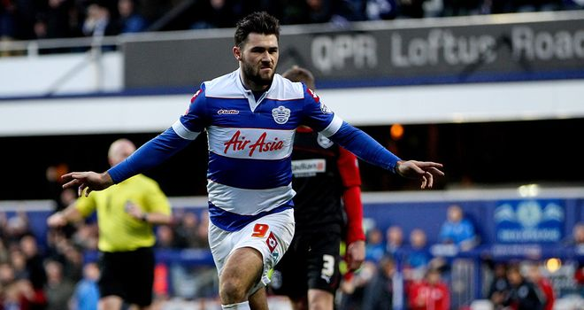 Charlie Austin celebrates another Loftus Road winner