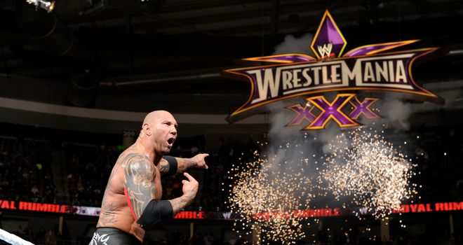 Batista has won the Royal Rumble twice, in 2005 and 2014