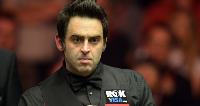 Ronnie O'Sullivan: Will play Mark Selby in Alexandra Palace final