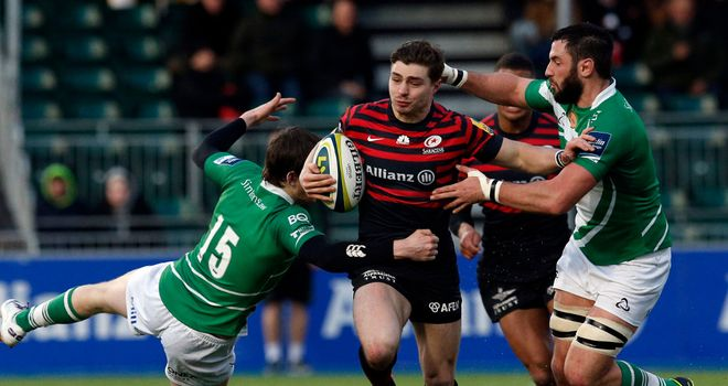 Ben Ransom: crossed for Saracens