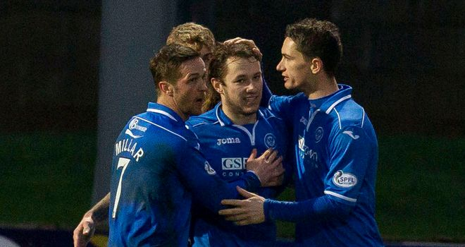 Stevie May: Celebrates yet another goal