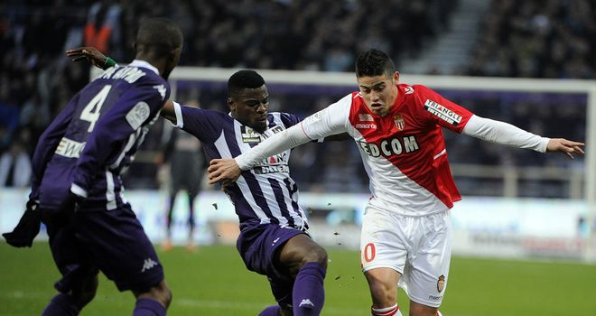 James Rodriguez in action for Monaco