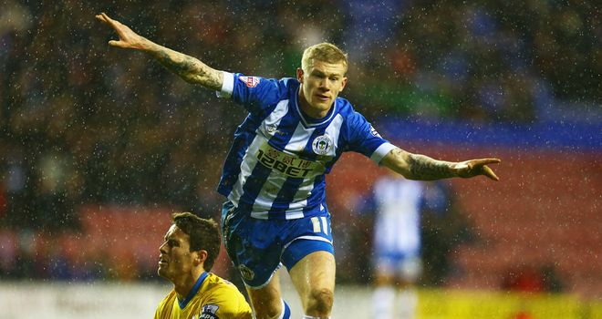 James McClean: Fired Wigan past Ipswich