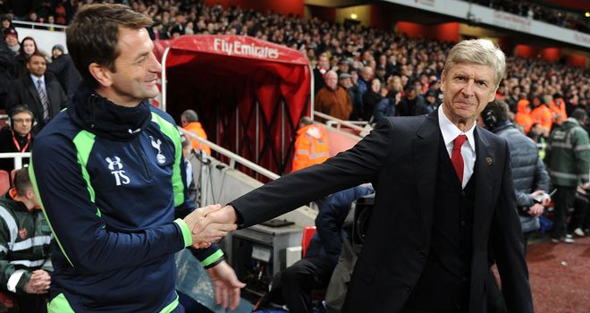 Tim Sherwood and Arsene Wenger before Arsenal's January FA Cup win against Tottenham