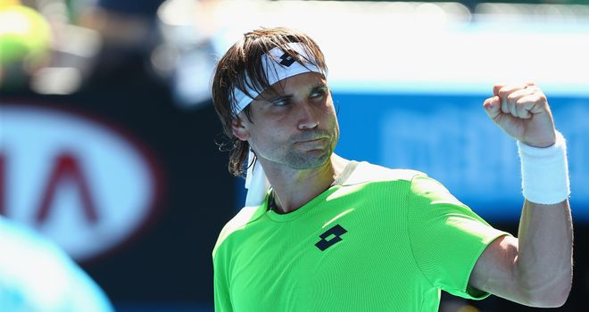 David Ferrer celebrates an easy win