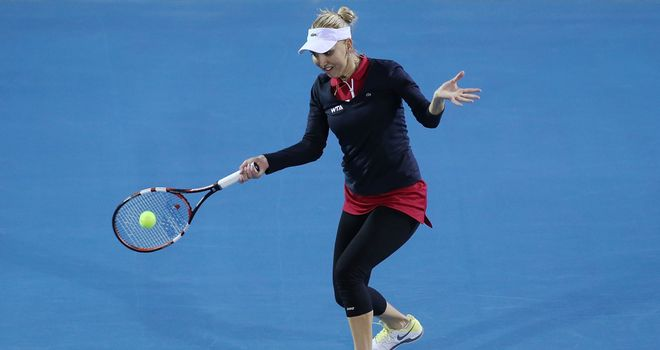 Elena Vesnina overcame Monica Puig at the Hobart International