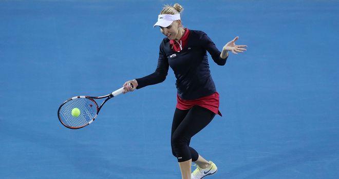 Elena Vesnina overcame Monica Puig at the Hobart International