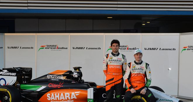 Perez and Hulkenberg reveal the 2014 Force India