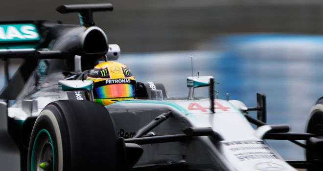 Lewis Hamilton in action on day four