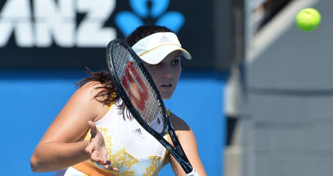 Laura Robson: Lost to Kirsten Flipkins at the Australian Open