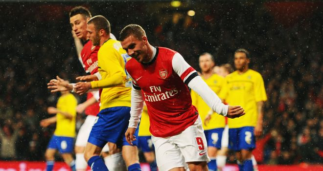 Lukas Podolski: Notched a brace in Arsenal's victory