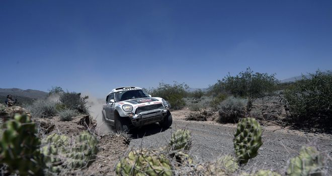 Nasser Al-Attiyah: Qatari driver led the way on stage eight of Dakar Rally