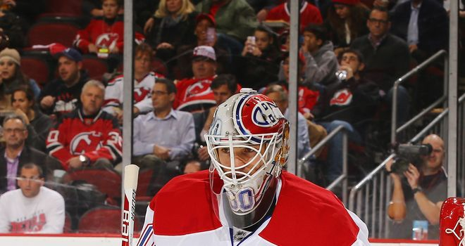 Peter Budaj made a total of 34 saves for the Montreal Canadiens