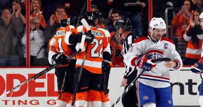 Philadelphia Flyers celebrate Zac Rinaldo's strike