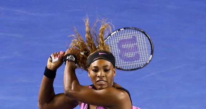 Serena Williams: Dropped only three games in her opening round match