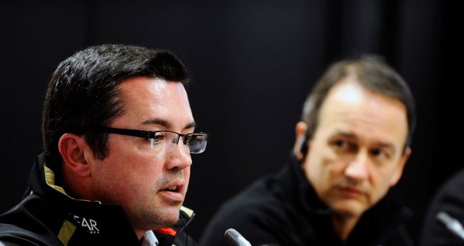 Eric Boullier: New McLaren Racing Director working alongside Jonathan Neale (R)
