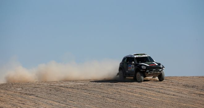 Stephane Peterhansel: Leads the Dakar Rally by just 26 seconds with one stage left