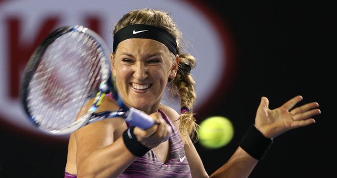 Victoria Azarenka saw off Barbora Zahlavova Strycova at the Australian Open
