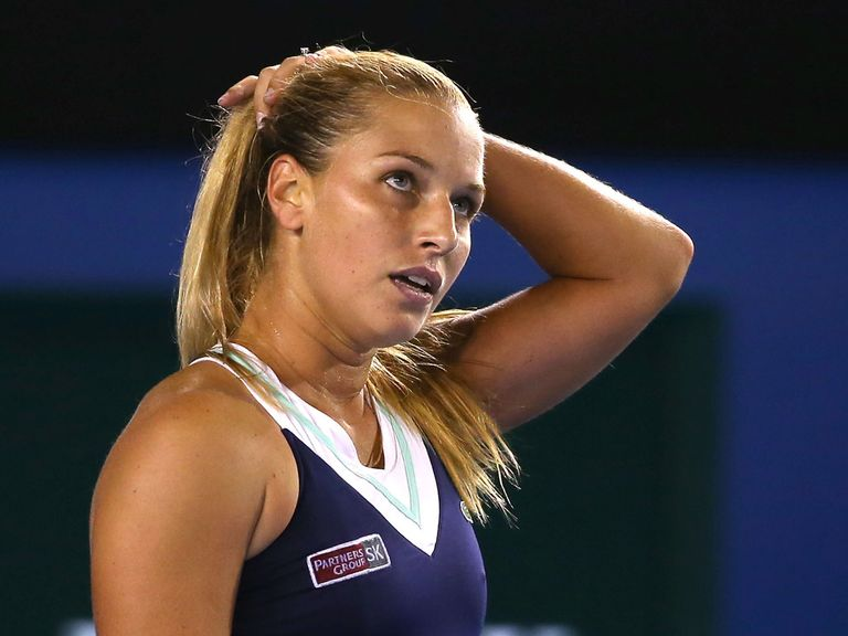 Dominika Cibulkova: Retired early from her match against Alisa Kleybanova
