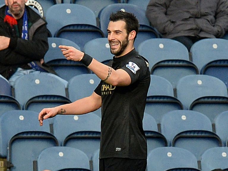 Alvaro Negredo: Found the net at Ewood Park