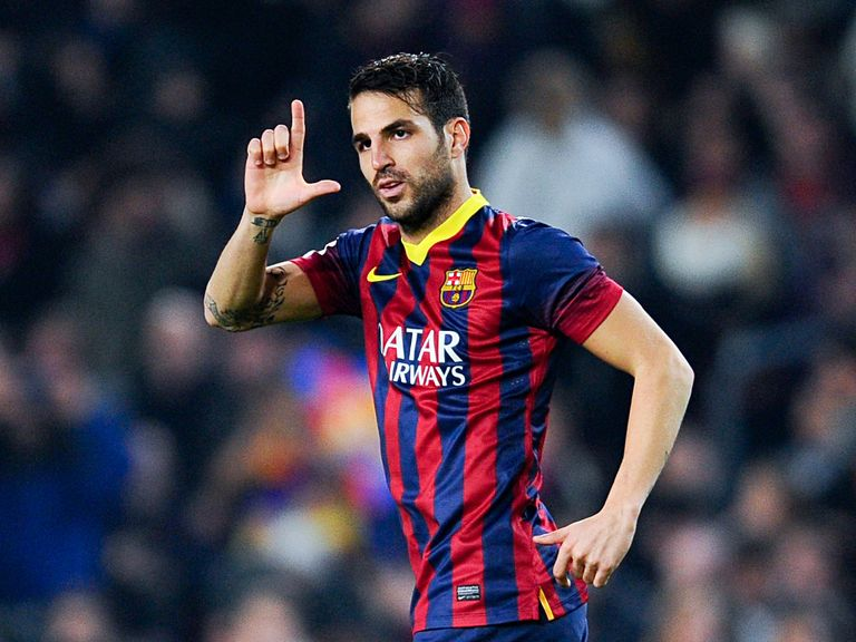 Cesc Fabregas: Happy at Barcelona
