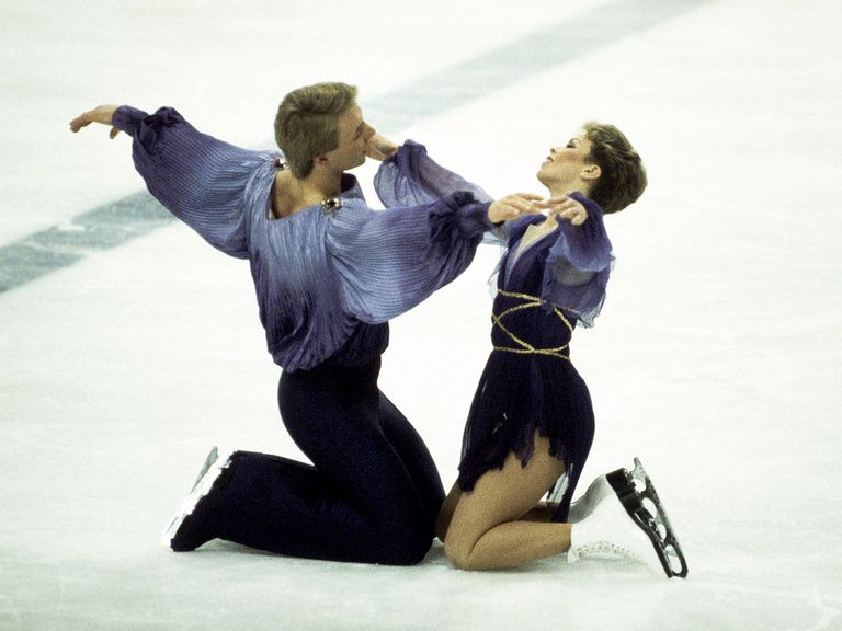 Torvill and Dean wowed the judges in Sarajevo in 1984